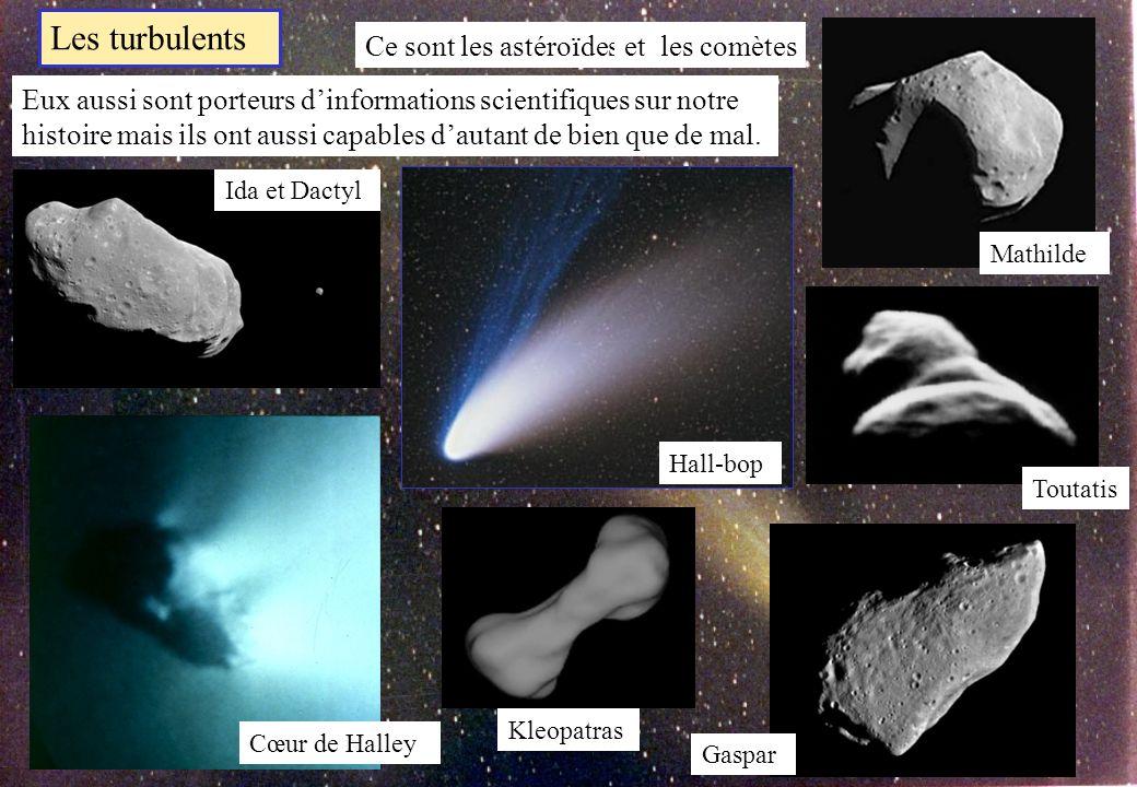 Des « mers » lisses Des « terres » chaotiques En fait des cratères dimpact de toutes les tailles!