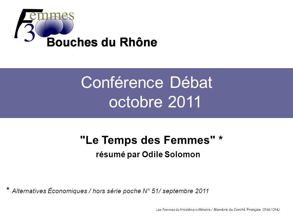 Les femmes du troisième millénaire / Membre du Comité Français ONG/ONU Conférence Débat octobre 2011