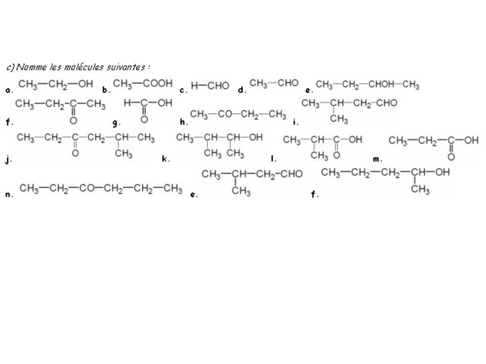2- Tests didentification des groupes caractéristiques et des familles organiques : a) Réactions caractéristiques du groupe carbonyle et distinction entre la famille aldéhyde et cétone : b) Test spécifique des acides carboxyliques et des amines :