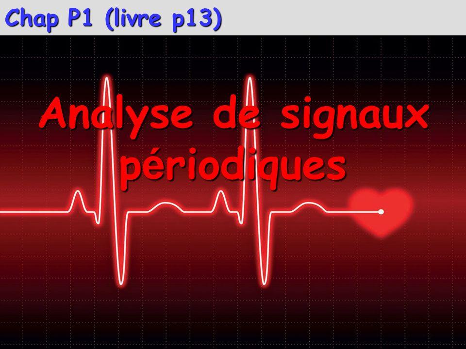 Chap P1 (livre p13) Analyse de signaux p é riodiques