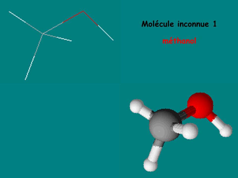 Molécule inconnue 1 méthanol