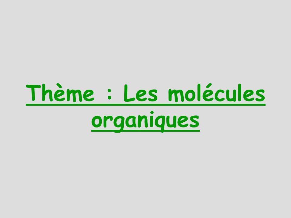 Thème : Les molécules organiques