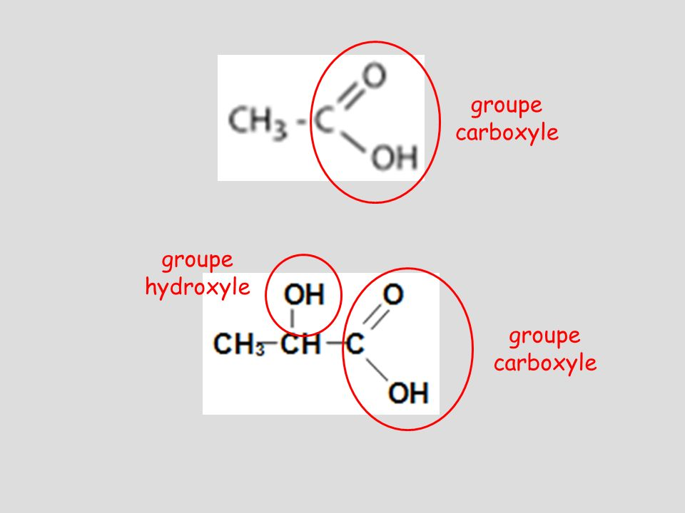 groupe hydroxyle groupe carboxyle