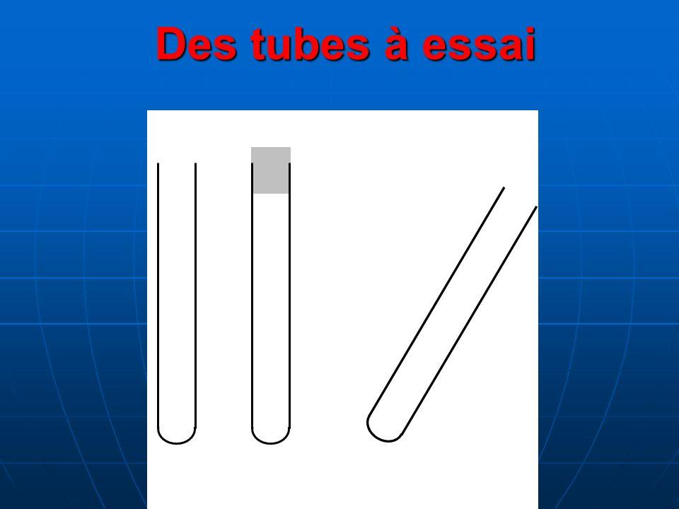 Des tubes à essai