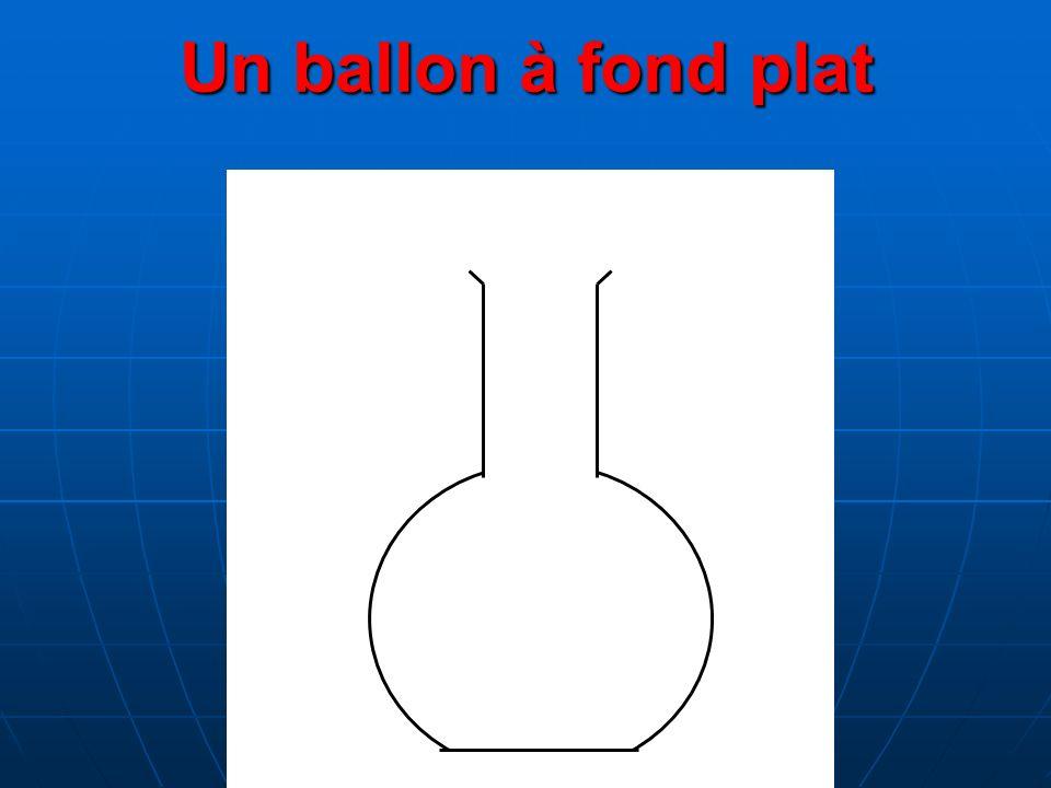 Un ballon à fond plat