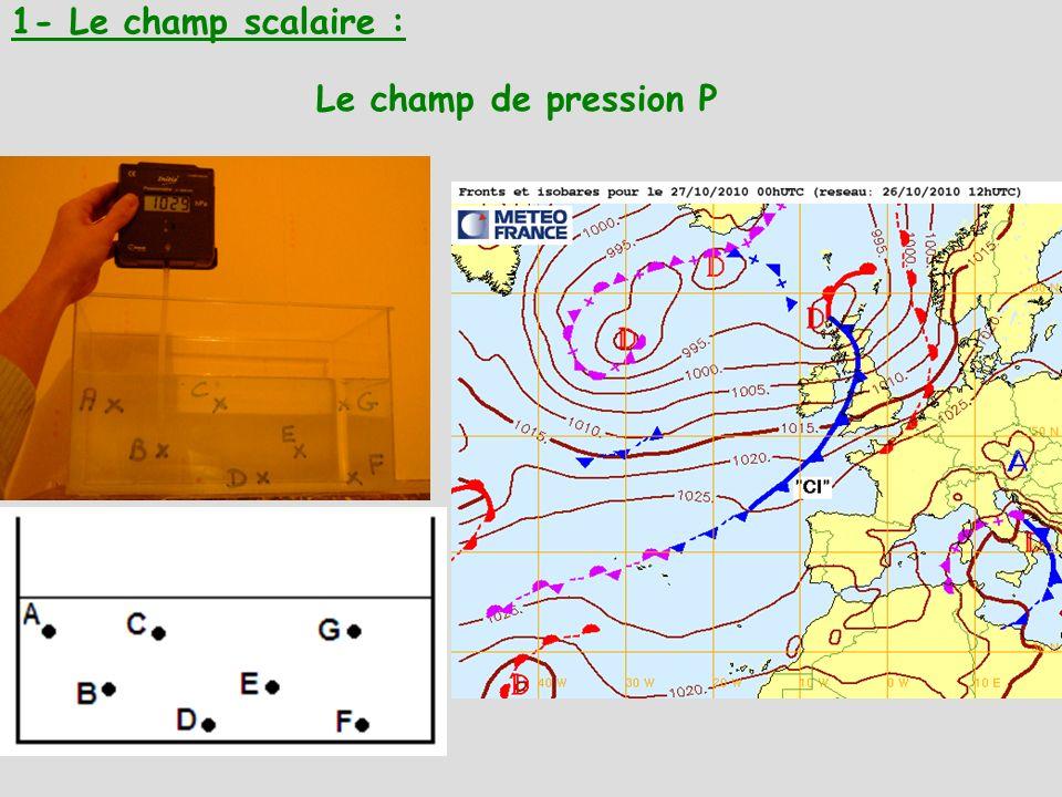 Le champ de pression P 1- Le champ scalaire :