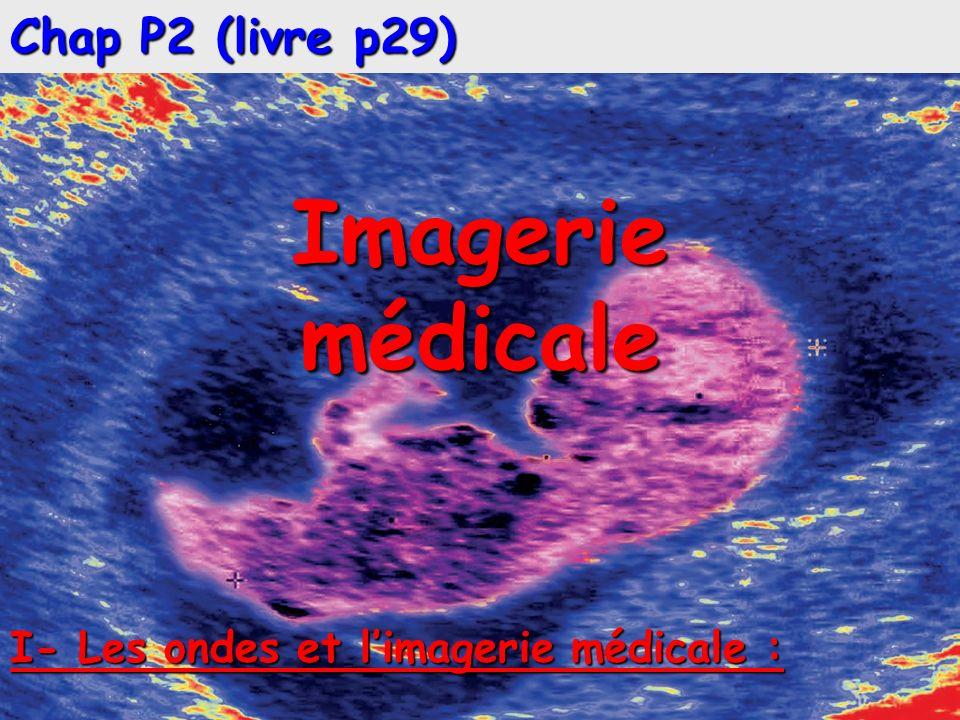 Chap P2 (livre p29) Imageriemédicale I- Les ondes et limagerie médicale :