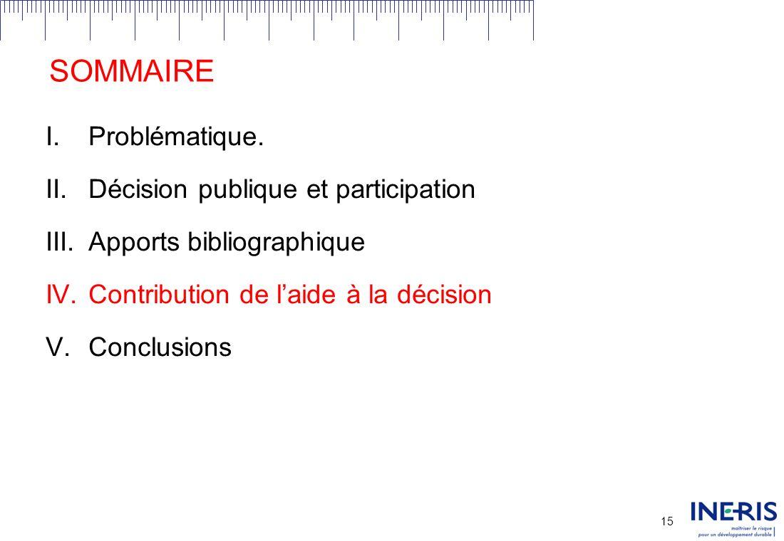14 III.APPORTS BIBLIOGRAPHIQUES Conception de structures participatives Bonnes pratiques et recommandations Guides méthodologiques Sectorisés.