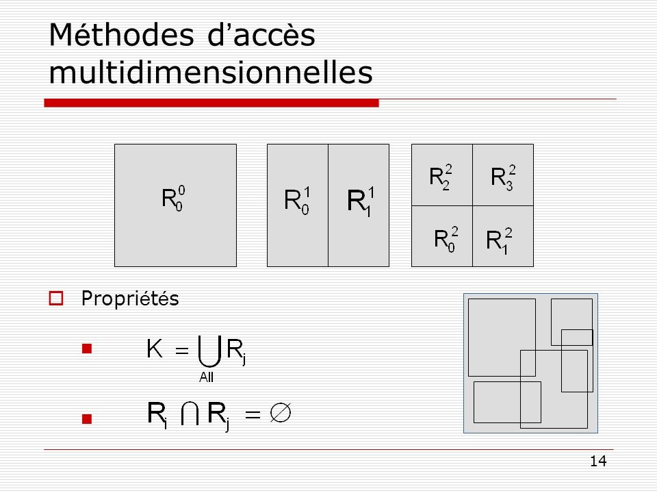 14 M é thodes d acc è s multidimensionnelles Propri é t é s