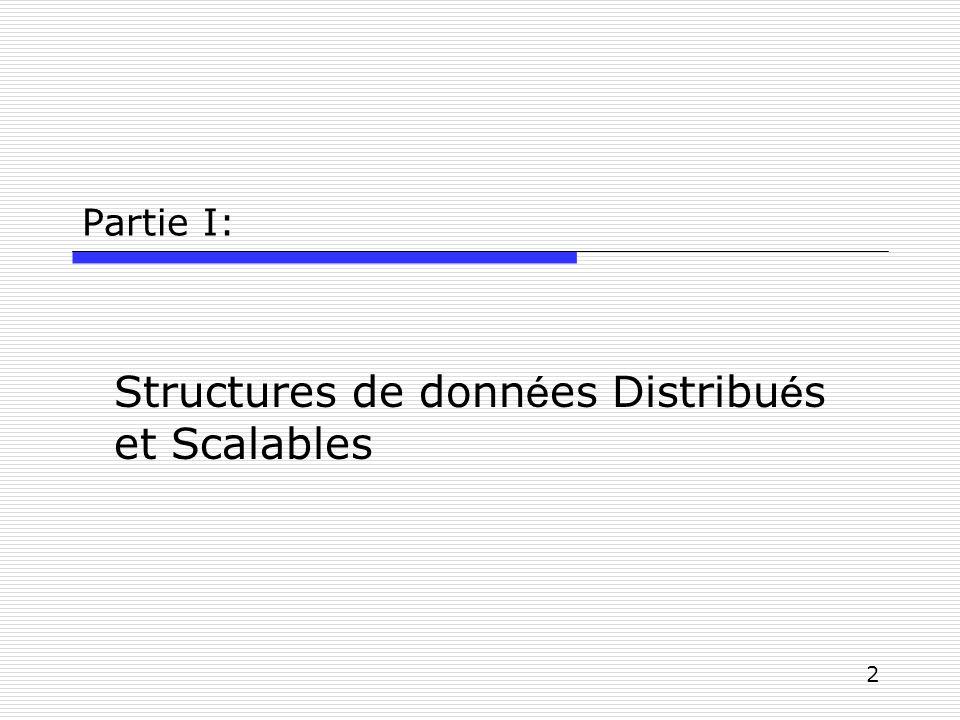 2 Partie I: Structures de donn é es Distribu é s et Scalables