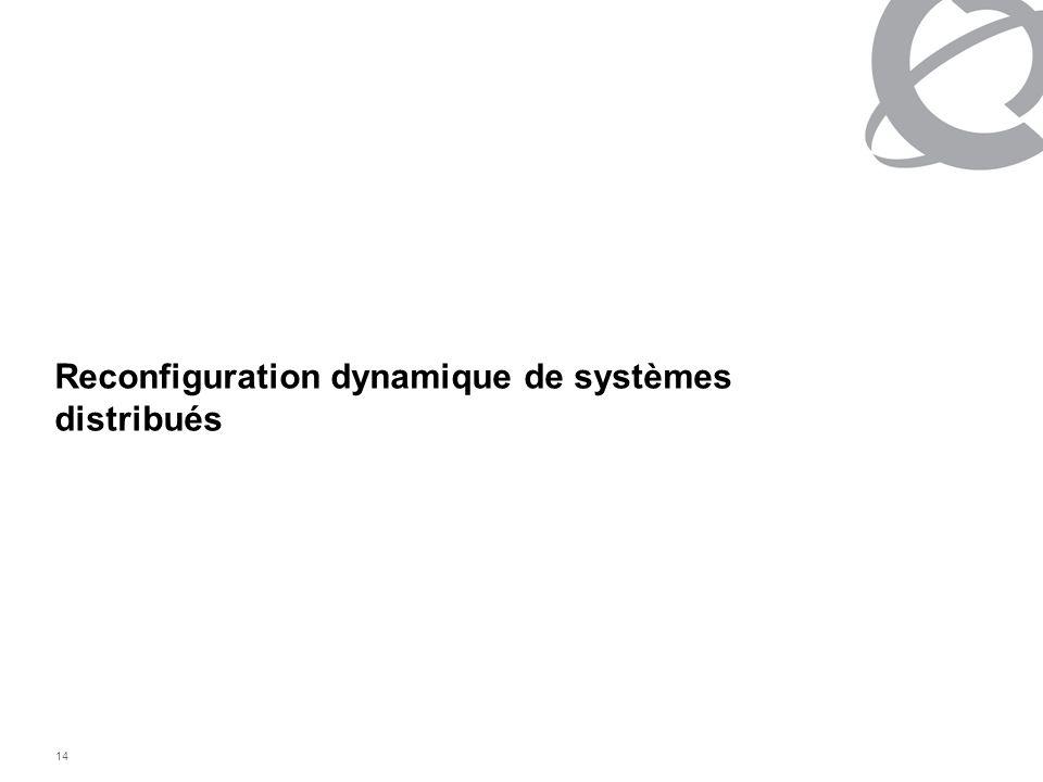 14 Reconfiguration dynamique de systèmes distribués