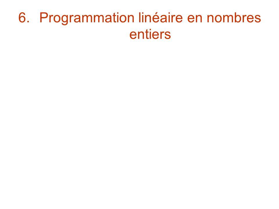 6.Programmation linéaire en nombres entiers