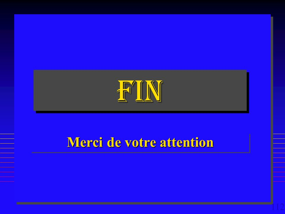 112 FINFIN Merci de votre attention
