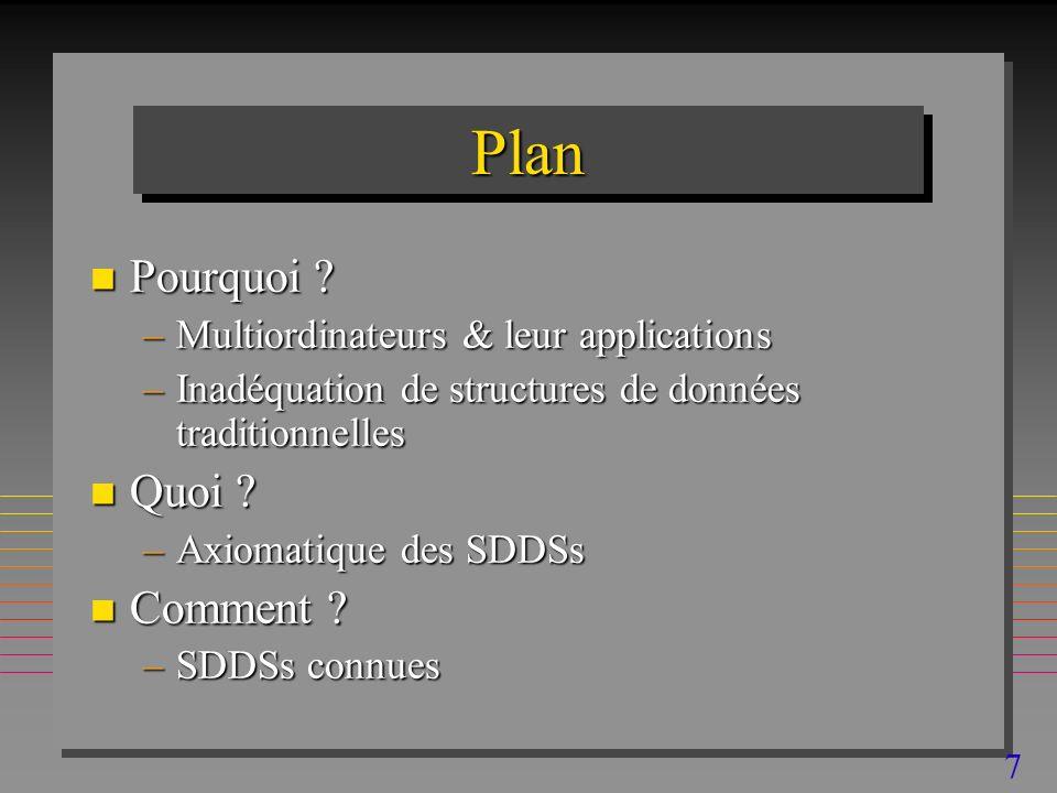 7 PlanPlan n Pourquoi .