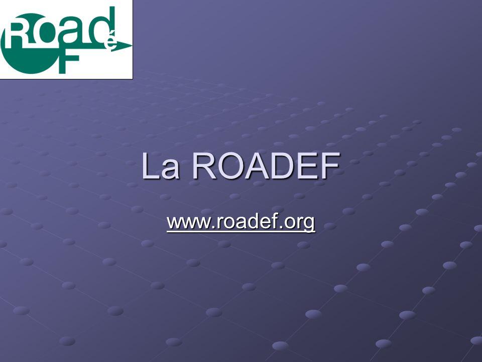 La ROADEF www.roadef.org