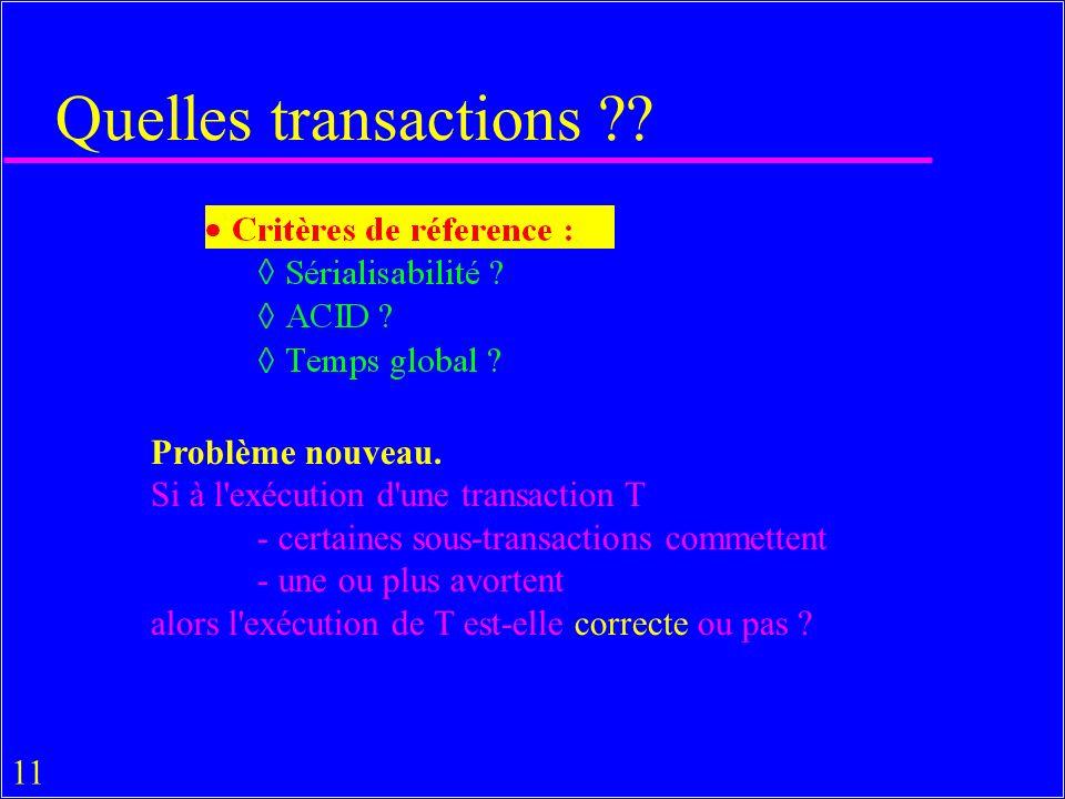 11 Quelles transactions . Problème nouveau.