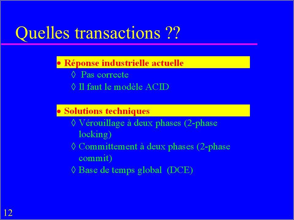 12 Quelles transactions