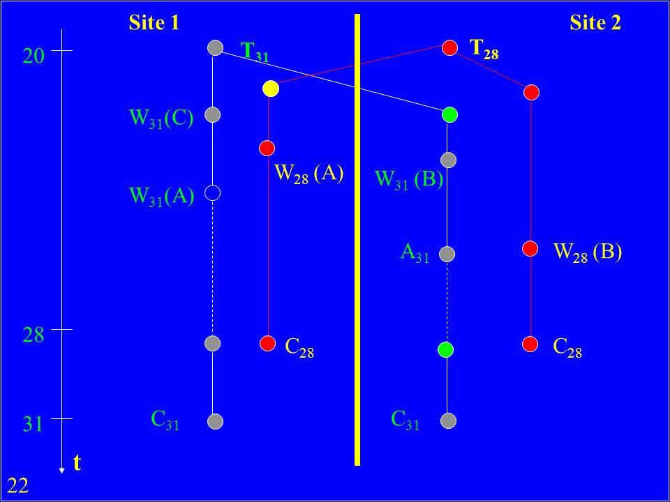 22 T 31 T 28 20 W 31 (C) W 31 (A) W 28 (A) 28 C 28 31 C 31 W 28 (B) W 31 (B) A 31 C 28 C 31 Site 1Site 2 t