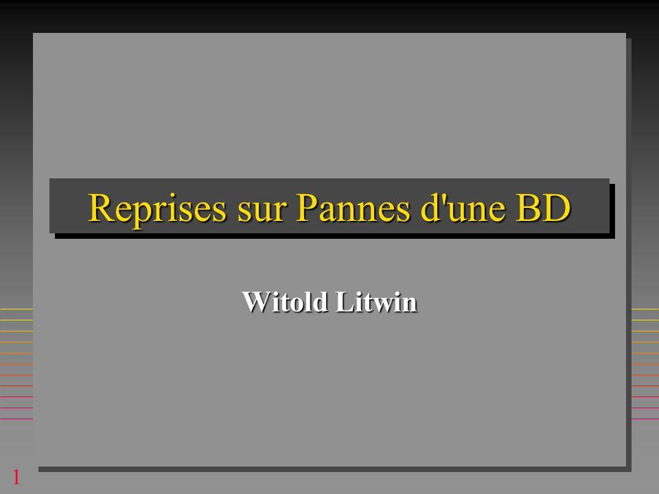 1 Reprises sur Pannes d une BD Witold Litwin