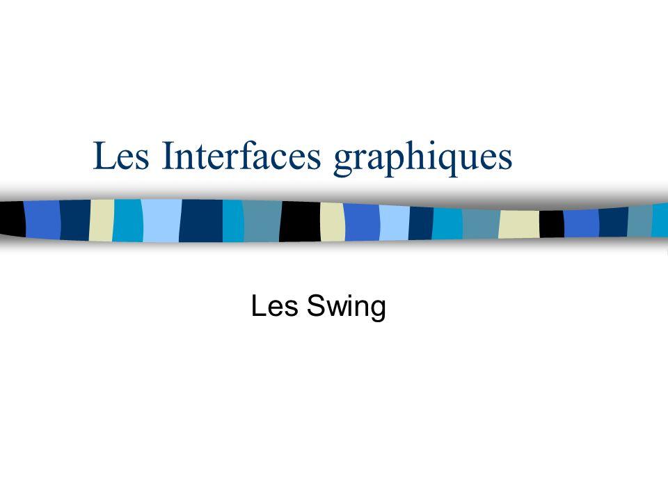 Les Interfaces graphiques Les Swing