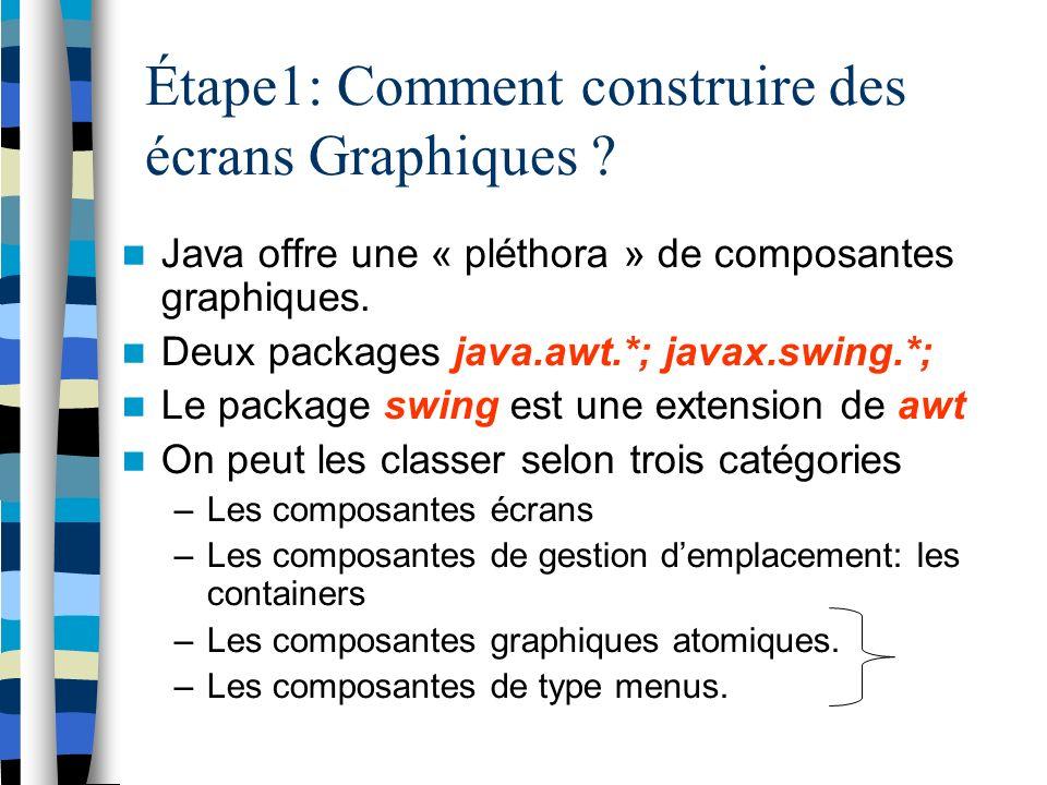 Étape1: Comment construire des écrans Graphiques .