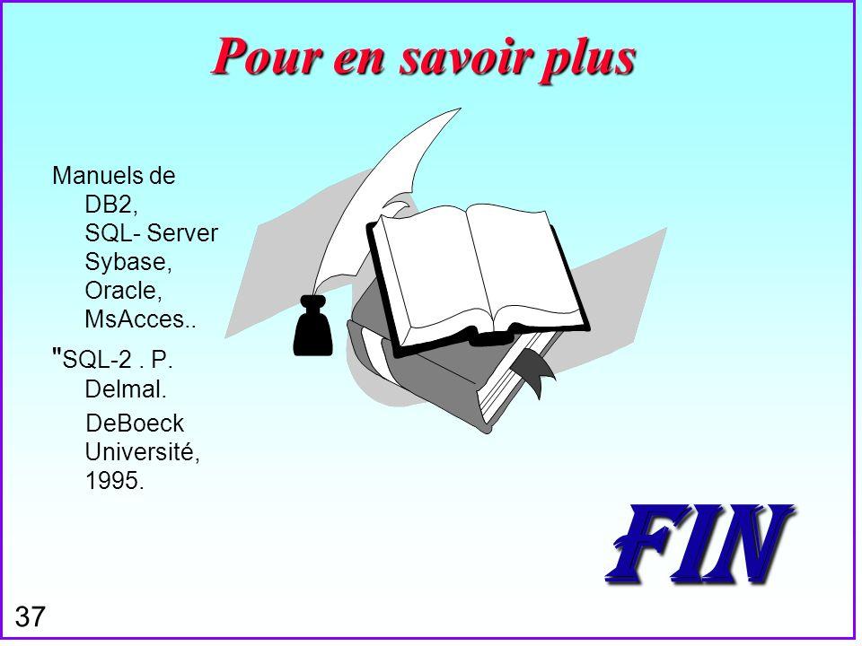 37 FIN Manuels de DB2, SQL- Server Sybase, Oracle, MsAcces..