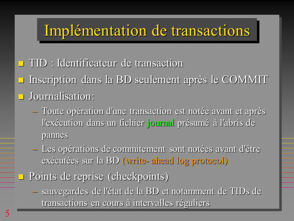 36 MAJ perdue exec sql set transaction read committed ; exec sql select bal into :bal from acc where branch = 123 ; bal = bal +5 ;/* lang.