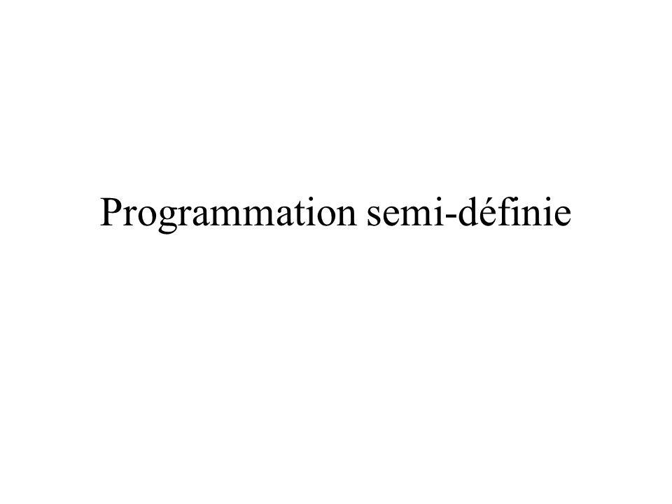 Programmation semi-définie