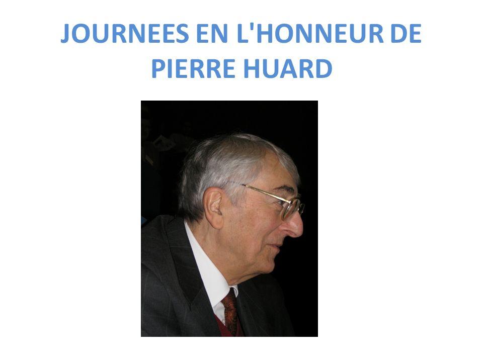 JOURNEES EN L'HONNEUR DE PIERRE HUARD