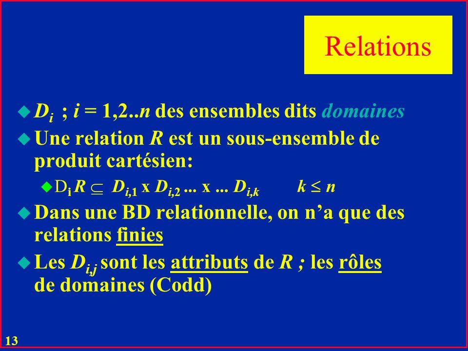 12 Base relationnelle Tables réelles et vues