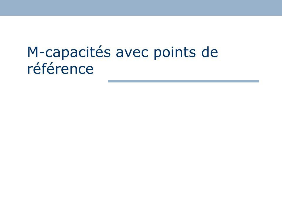M-capacités avec points de référence