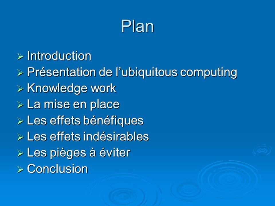 Ubiquitous Computing Les implications et conséquences du «toujours connecté»