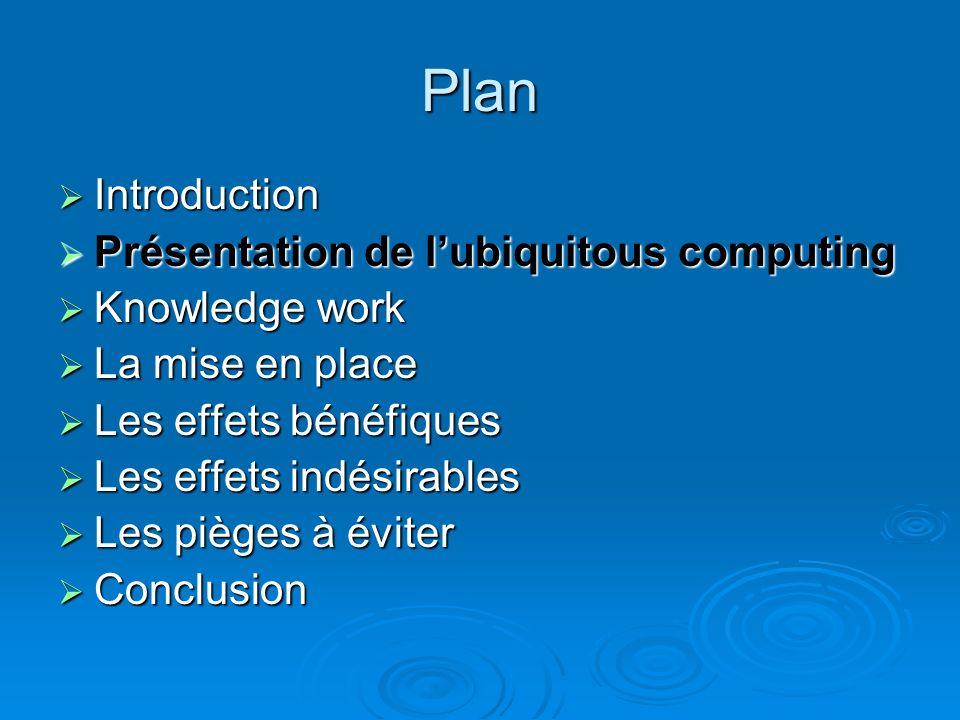 Introduction Une des prochaine étape de linformatique Une des prochaine étape de linformatique Interactions machines / environnement Interactions mach