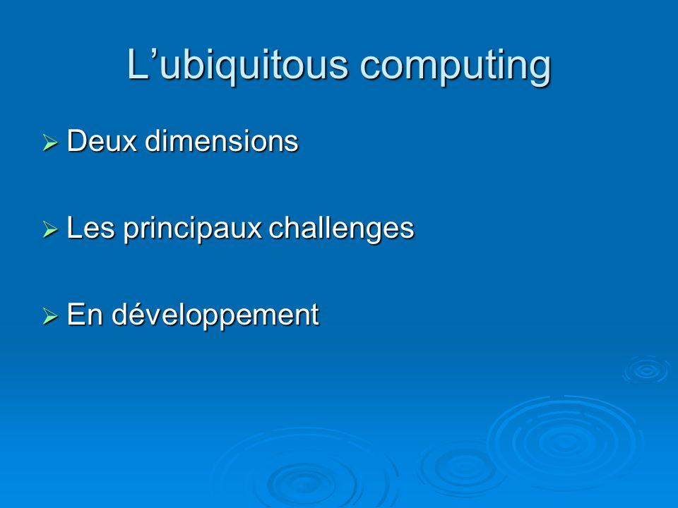 Lubiquitous computing Deux dimensions Deux dimensions