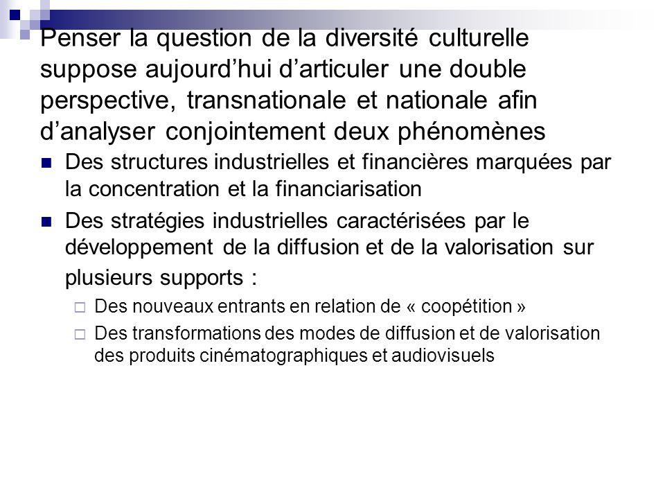 Penser la question de la diversité culturelle suppose aujourdhui darticuler une double perspective, transnationale et nationale afin danalyser conjoin