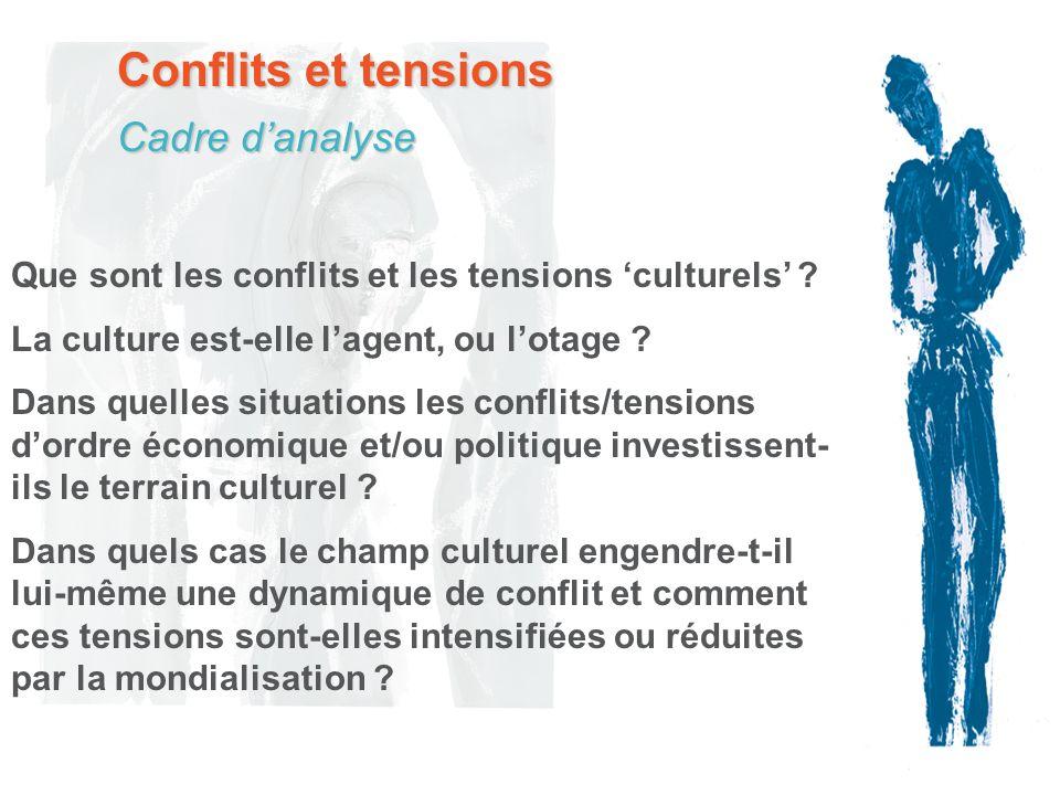 Conflits et tensions Que sont les conflits et les tensions culturels ? La culture est-elle lagent, ou lotage ? Dans quelles situations les conflits/te