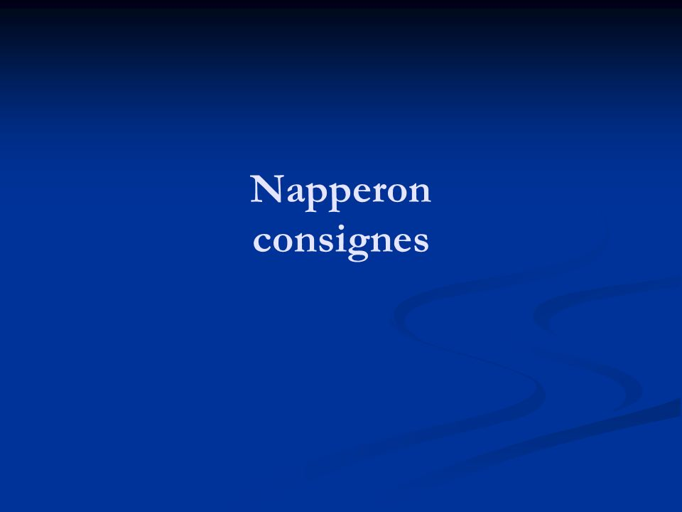 Napperon consignes