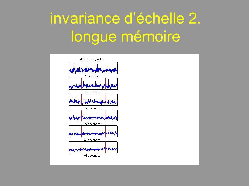 invariance déchelle 2. longue mémoire