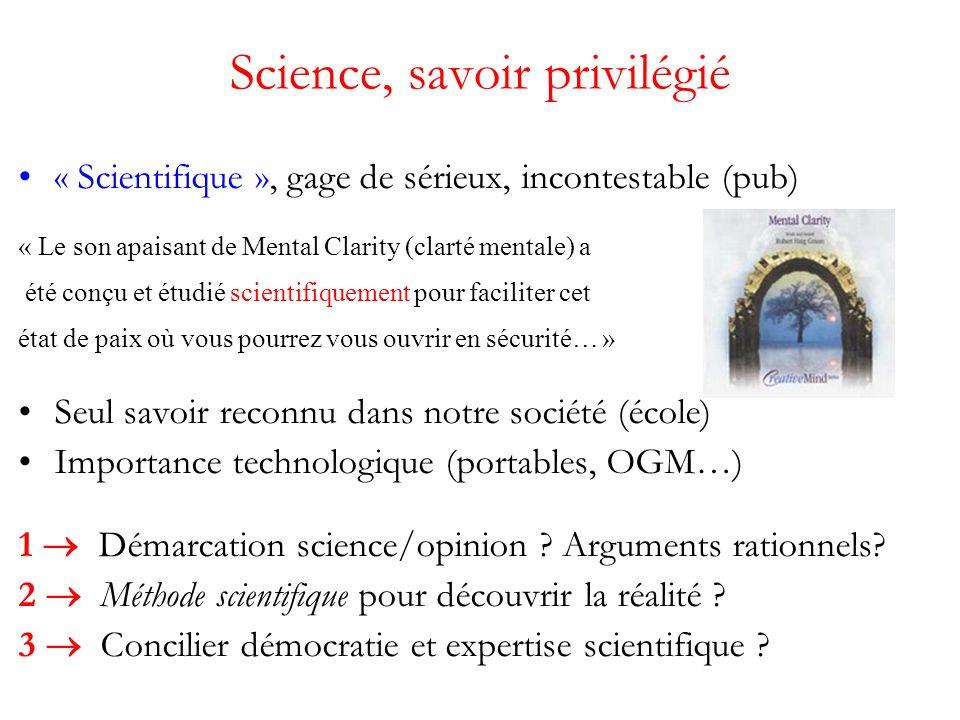 Première idée : respect des faits Observer la nature sans idée préconçue, sans a priori –opposition Aristote, religion En déduire les « lois de la Nature », objectives, indépendantes de lhomme.