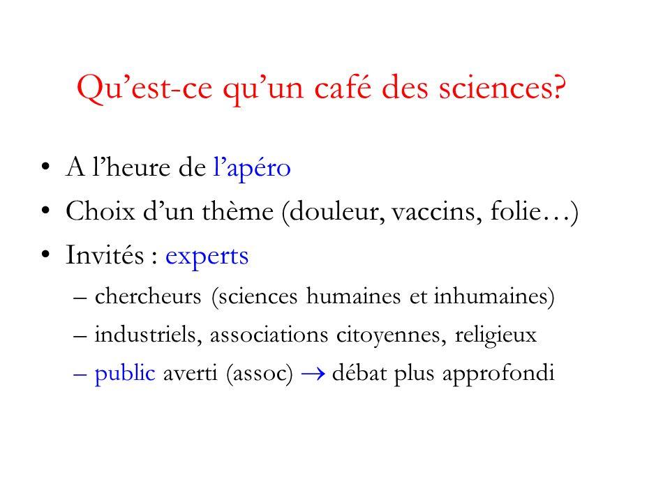 Quest-ce quun café des sciences.
