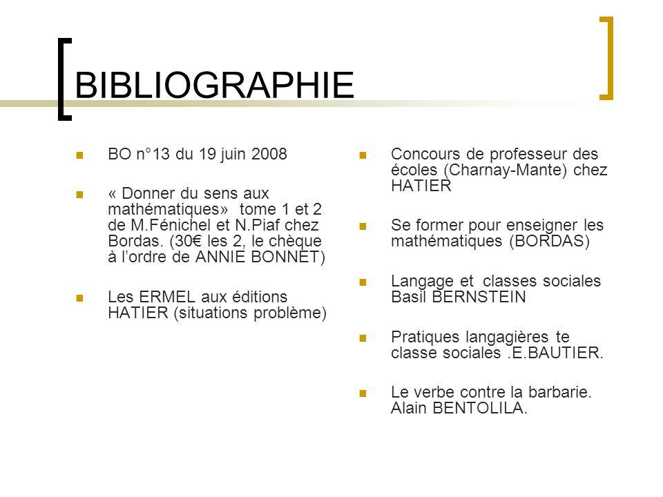 LA BIBLIOGRAPHIE EN IMAGE