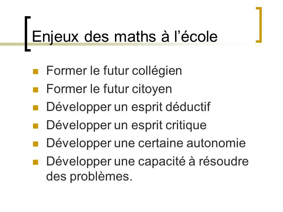 Les enjeux des maths suite. Quels sont les enjeux de la formation en mathématiques à lIUFM?