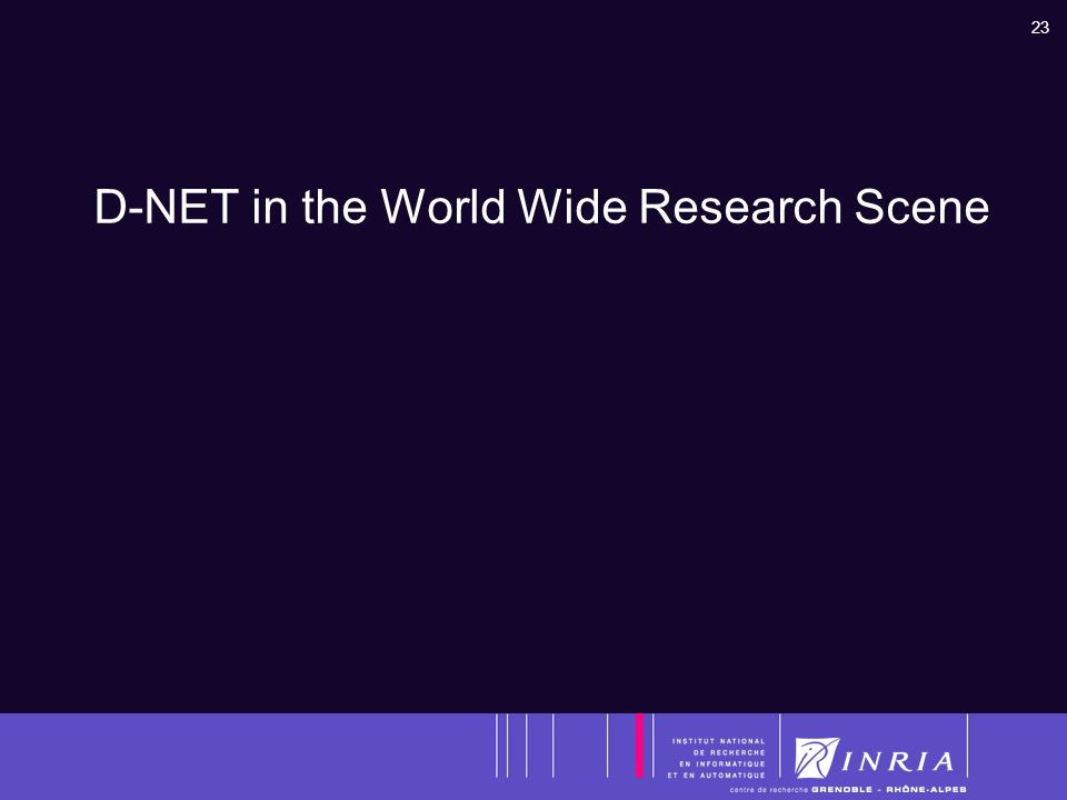 23 D-NET in the World Wide Research Scene
