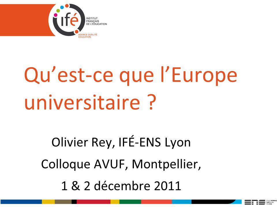 Quest-ce que lEurope universitaire .