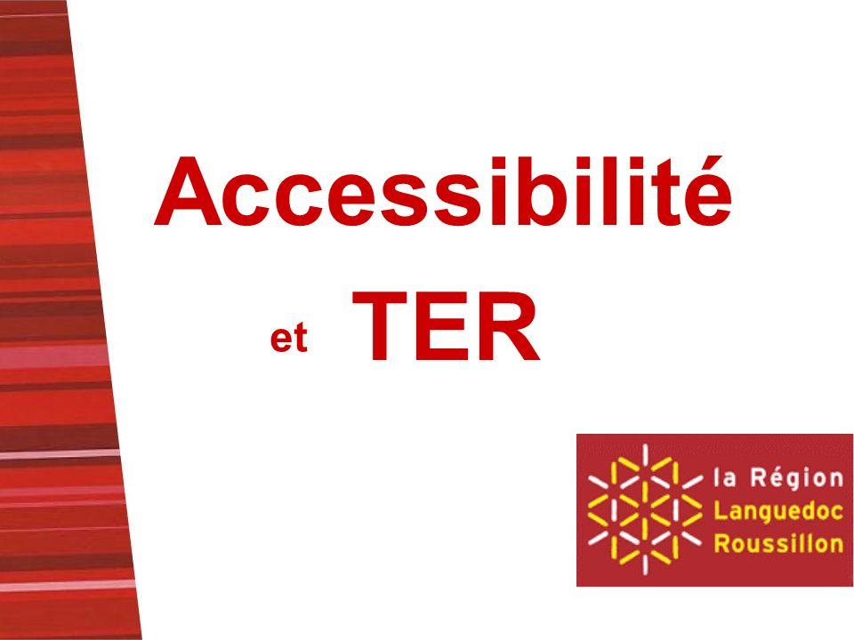 Accessibilité et TER