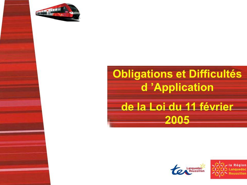 Obligations et Difficultés d Application de la Loi du 11 février 2005