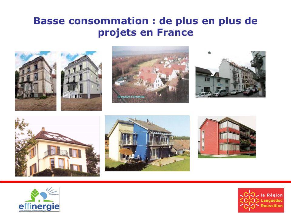 Basse consommation : de plus en plus de projets en France