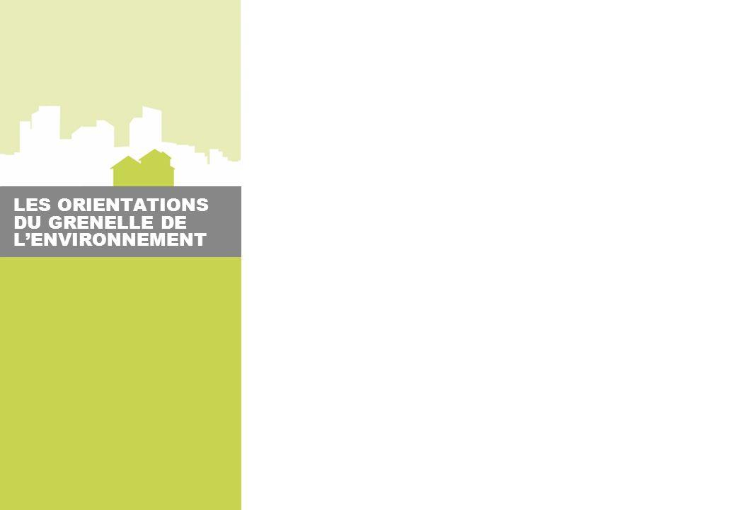 LES ORIENTATIONS DU GRENELLE DE LENVIRONNEMENT