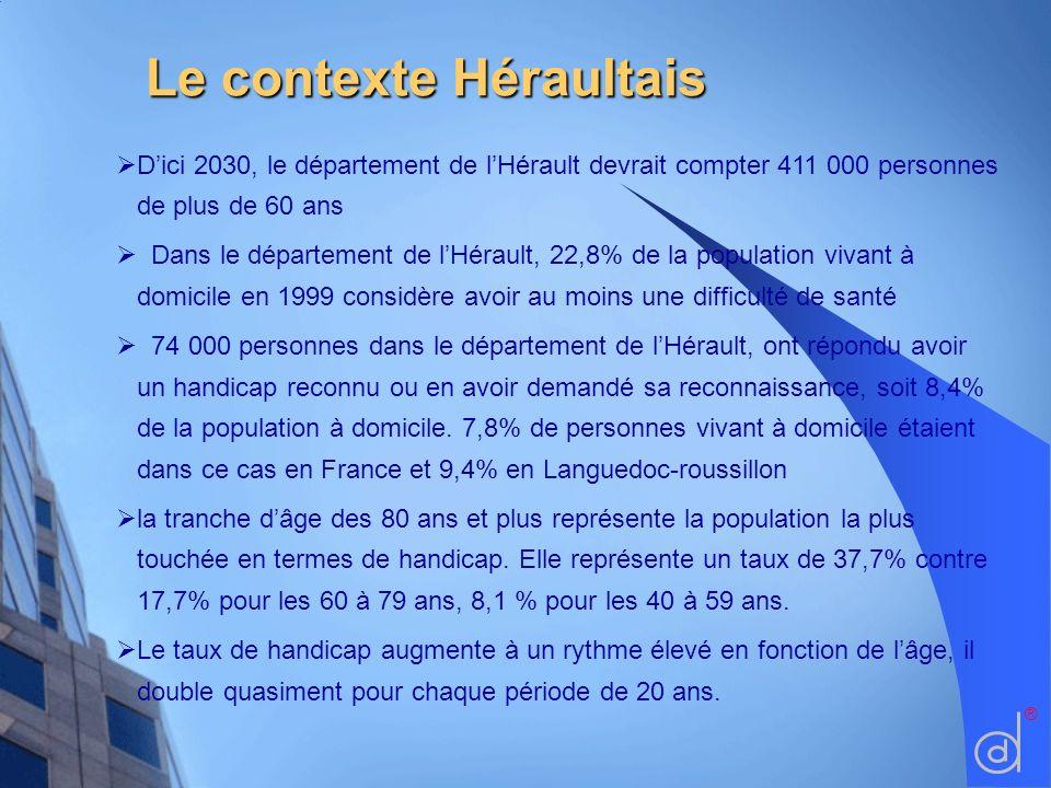 Le contexte Héraultais Dici 2030, le département de lHérault devrait compter 411 000 personnes de plus de 60 ans Dans le département de lHérault, 22,8