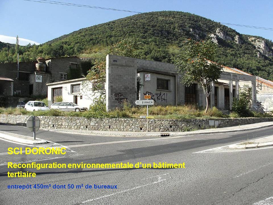 SCI DORONIC Reconfiguration environnementale dun bâtiment tertiaire entrepôt 450m² dont 50 m² de bureaux
